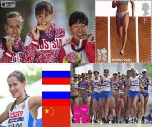 Leichtathletik Frauen 20Km zu Fuß London 12 puzzle