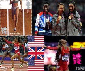 Leichtathletik Frauen 400 m London 2012 puzzle