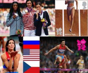Leichtathletik Frauen 400m Hürden LDN 2012 puzzle