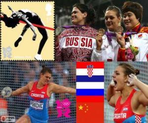 Leichtathletik Frauen Diskuswurf London 12 puzzle
