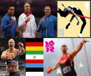 Leichtathletik Männer Diskuswurf London 12 puzzle