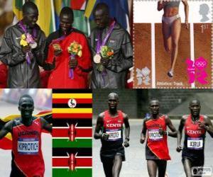 Leichtathletik Männer Marathon London 2012 puzzle