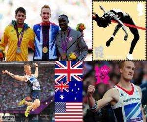 Leichtathletik Männer Weitsprung London 12 puzzle
