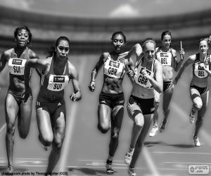 Leichtathletik, Staffellauf puzzle
