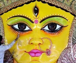 Leiter der göttin Durga, ein aspekt von Parvati puzzle