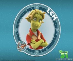 Lem ist ein guter Junge. Auf den ersten Blick scheinen schüchtern, aber im Rahmen dieses grüne Schale verbirgt sich ein wahrer Held puzzle