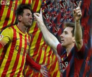 Leo Messi, bester Torschütze in der Geschichte des FC Barcelona puzzle