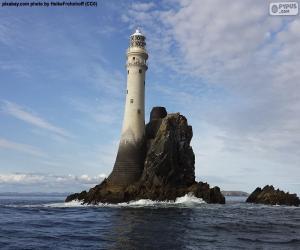 Leuchtturm auf den Felsen puzzle