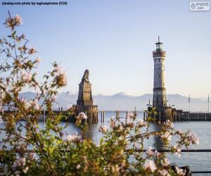 Leuchtturm Lindau, Deutschland puzzle