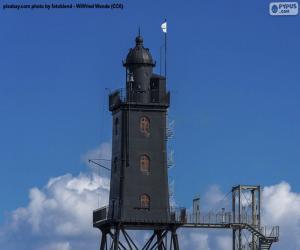 Leuchtturm Obereversand, Deutschland puzzle