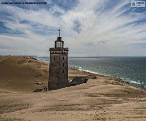 Leuchtturm von Rubjerg Knude, Dänemark puzzle