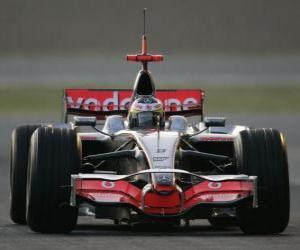 Lewis Hamilton der seinen F1 puzzle