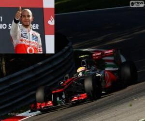 Lewis Hamilton feiert seinen Sieg in der Grand Prix von Italien 2012 puzzle