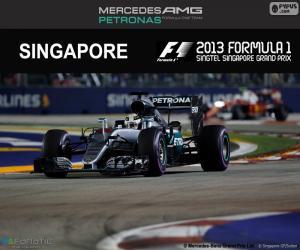 Lewis Hamilton, Großer Preis Singapur 2016 puzzle
