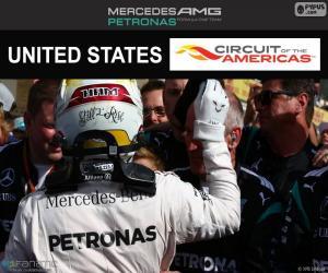 Lewis Hamilton, Großer Preis der USA 2016 puzzle
