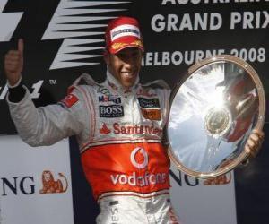 Lewis Hamilton im pódium puzzle