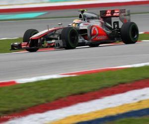 Lewis Hamilton - McLaren - Malaysian Grand Prix (2012) (3. Platz) puzzle