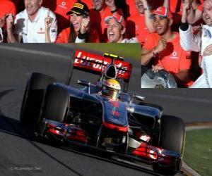 Lewis Hamilton - McLaren - Melbourne, Grand Prize of Australia (2012) (3. Platz) puzzle