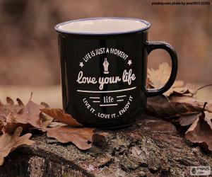 Liebe dein Leben puzzle