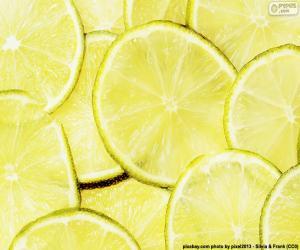 Limette, frucht puzzle