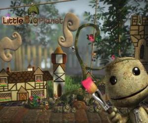 LittleBigPlanet-, Video-Spiel, in dem die Charaktere sind Puppen genannt Sackboys oder Sackgirls puzzle