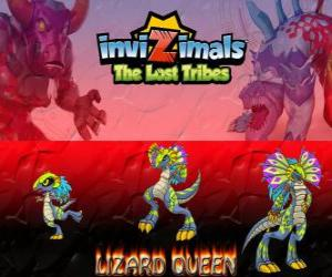 Lizard Queen, neueste Entwicklung. Invizimals Die verlorenen Stämme. Die Königin der Reptilien ist schön und klug puzzle