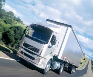 Lkw Volvo VM ist eine mittlere LKW puzzle