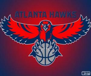 Logo Atlanta Hawks, NBA-Team. Southeast Division, Eastern Conference puzzle