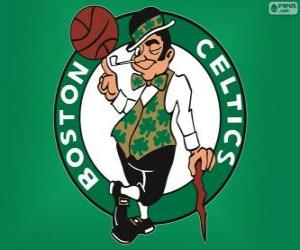 Logo Boston Celtics, NBA-Team. Atlantic Division, Eastern Conference puzzle