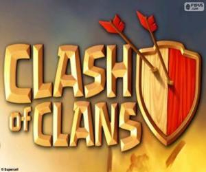 Logo der Clash of Clans puzzle