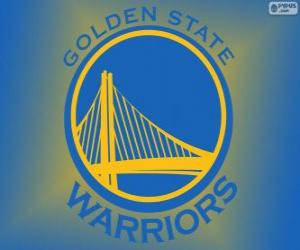 Logo der Golden State Warriors, NBA-Team. Pacific Division, Western Conference puzzle