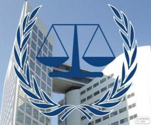Logo der IStGH, Internationaler Strafgerichtshof puzzle