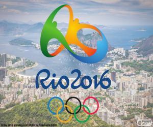 Logo der Olympischen Spiele 2016 in Rio puzzle