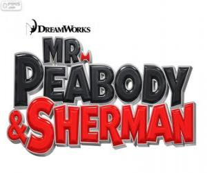 Logo des Films Mr. Peabody und Sherman puzzle