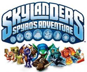 Logo des Videospiels von Spyro der Drache, Skylanders: die Abenteuer von Spyro puzzle