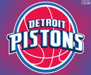 Logo Detroit Pistons, NBA-Team. Central Division, Eastern Conference puzzle