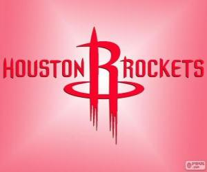 Logo Houston Rockets, NBA-Team. Southwest Division, Western Conference puzzle