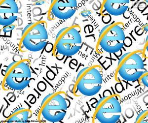 Logo InternetExplorer puzzle