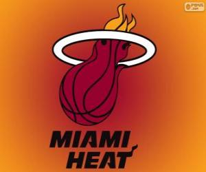 Logo Miami Heat, NBA-Team. Southeast Division, Eastern Conference puzzle