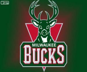 Logo Milwaukee Bucks, NBA-Team. Central Division, Eastern Conference puzzle