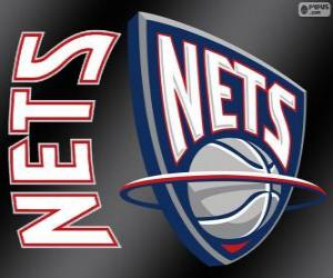 Logo New Jersey Nets, NBA-Team. Atlantic Division, Eastern Conference puzzle