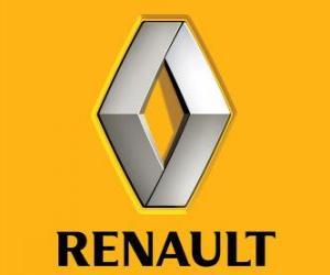Logo Renault. Französisch Automarke puzzle