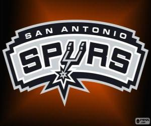 Logo San Antonio Spurs, NBA-Team. Southwest Division, Western Conference puzzle