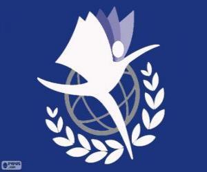 Logo UNITAR, Ausbildungs- und Forschungsinstitut der Vereinten Nationen puzzle