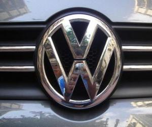 Logo Volkswagen, deutsche Automarke puzzle
