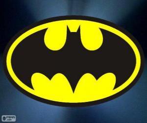Logo von Batman, die Fledermaus puzzle