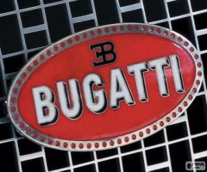 Logo von Bugatti, französische Marke italienischer Herkunft puzzle