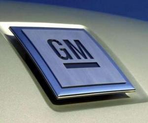 Logo von GM oder General Motors. US-amerikanischer automarke puzzle