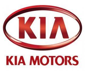 Logo von KIA Motors, südkoreanische Automobilhersteller puzzle