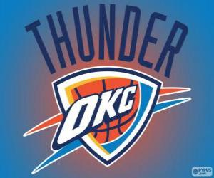 Logo von Oklahoma City Thunder, NBA-Team. Northwest Division, Western Conference puzzle